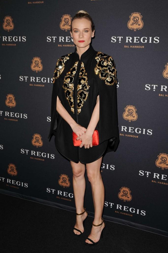Diane Kruger portait une petite robe noire splendide